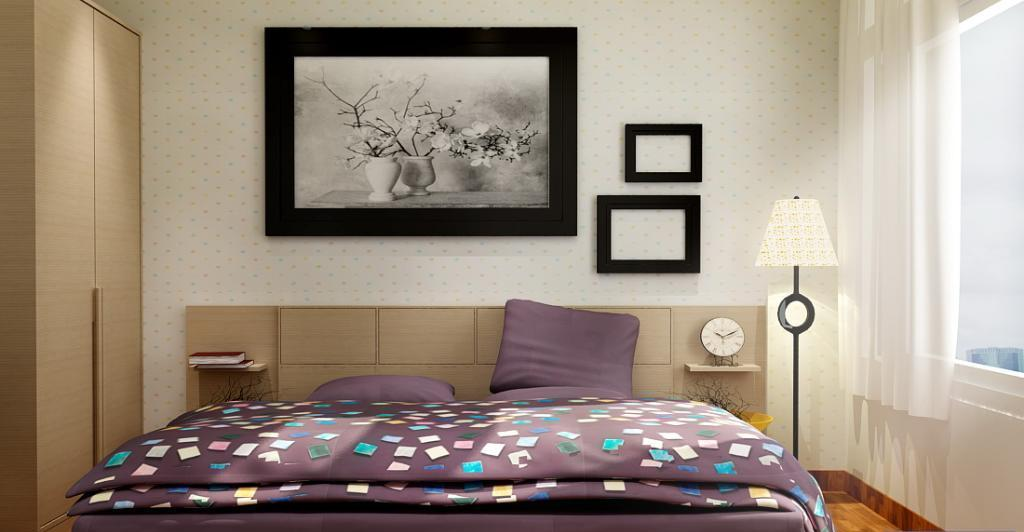 phòng ngủ căn hộ Saigon Pearl  Sapphire cho thuê.